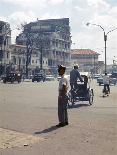 hình ảnh cảnh sát giao thông sài gòn xưa