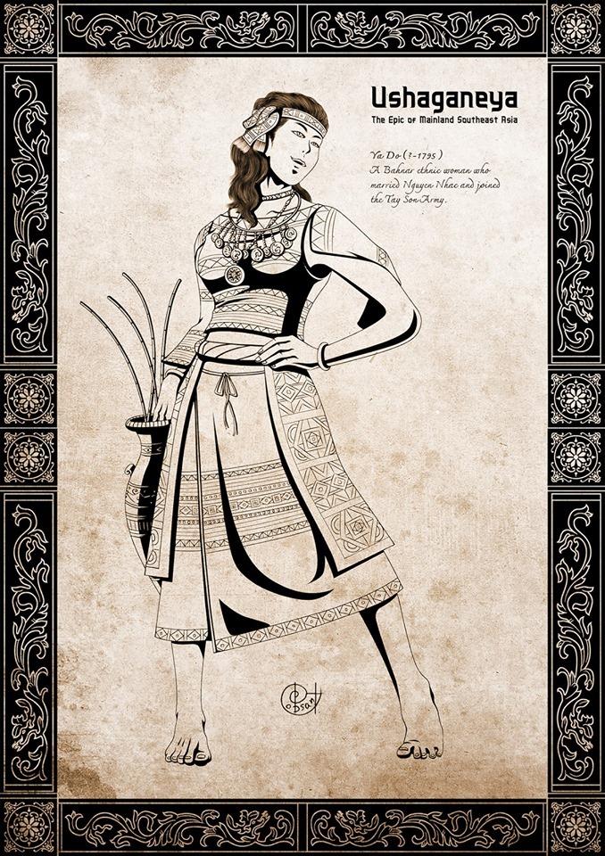 Cô gái dân tộc Ba Na vùng Tây Nguyên. Người mang tên Ya Dố.