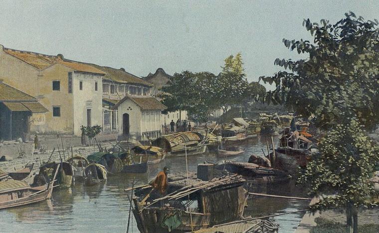 Kênh Bãi Sậy ở khu vực Chợ Lớn, Sài Gòn, Đông Dương năm 1903