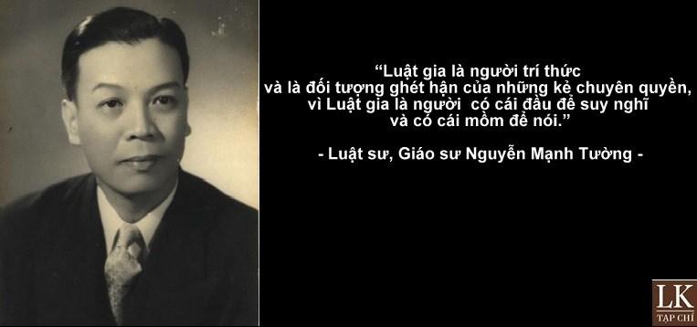 Giáo sư Nguyễn Mạnh Tường - Lòng tự trọng của người trí thức