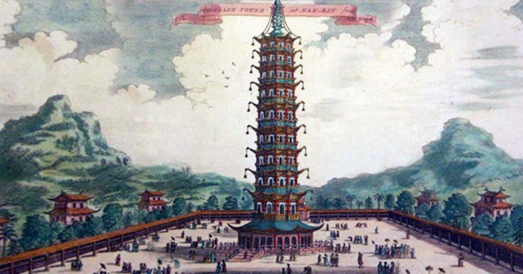 toà tháp làm bằng lưu ly được xây dựng dưới thời nhà Minh được xem là di sản thế giới thời trung đại