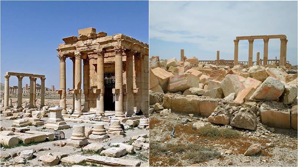 Thành cổ Palmyra là một di sản thế giới đãbị phá hủy bởi IS
