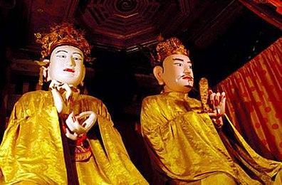 Ông Lý Ông Trọng và vợ ông Hoàng phi Bạch Tĩnh Cung Công chúa