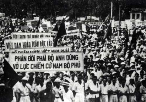 """nhân dân Nam bộ biểu tình chống đối hành động vô căn cứ của thực dân Anh và thực dân Pháp.  Sau khi """"Lời kêu gọi của Ủy ban Kháng chiến Nam Bộ"""" được phát đi, quân dân Sài Gòn – Gia Định hưởng ứng mãnh liệt."""