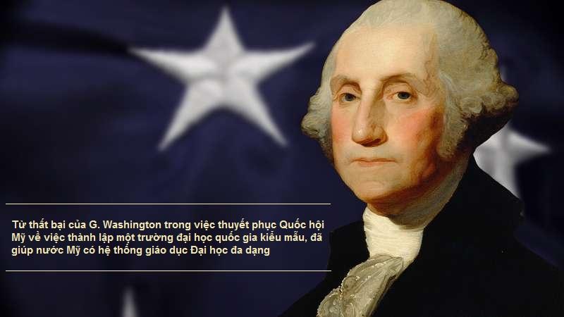 """G. Washington """"Thiếu tính hệ thống"""" trong giáo dục đại học nước Mỹ"""