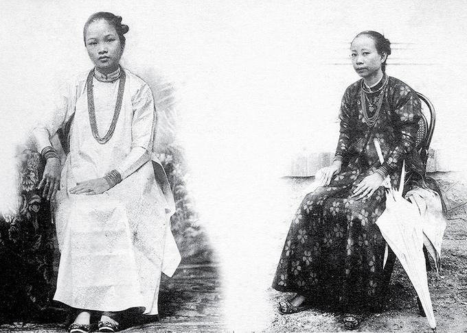 nhân học hình ảnh  - thế kỷ 19 - người Việt xưa- phụ nữ