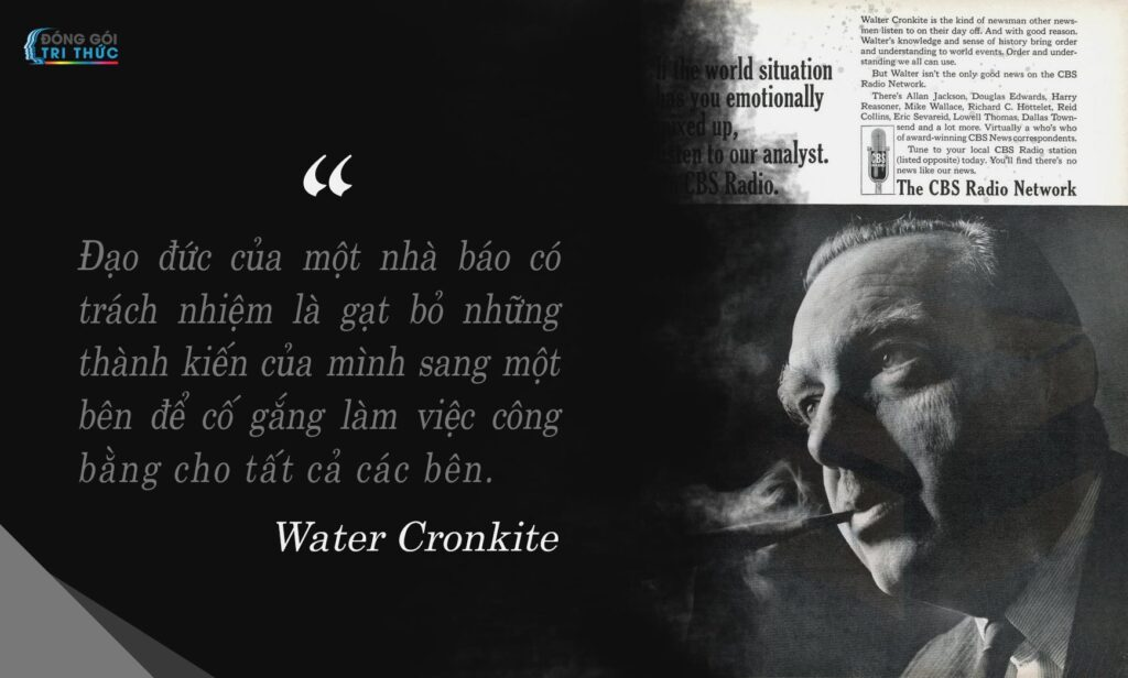 Water Cronkite đang nhìn và hút tẩu thuốc nguyễn thị mỹ ngọc ksc không có lối tắt cho sự hoàn hảo