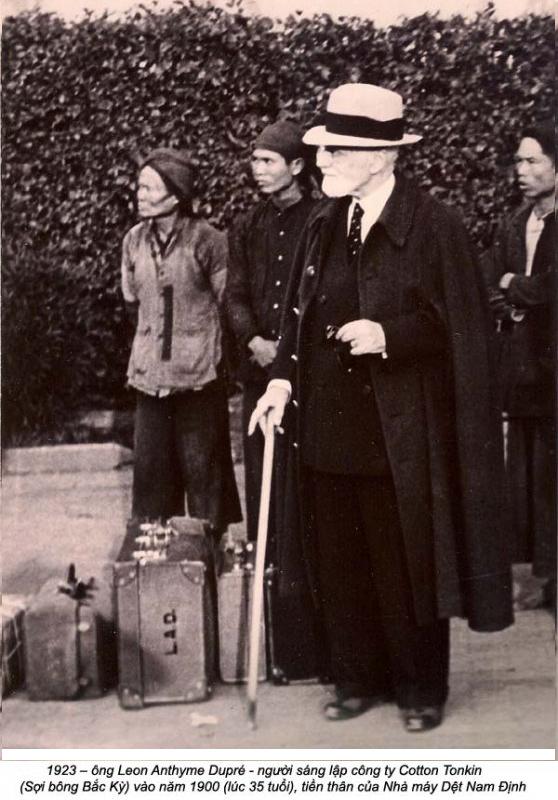 Ông Louis Léon Anthyme Dupré (1860 - 1940), người lập nhà máy dệt Nam Định.